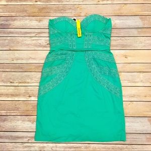 Minuet Dress with Lace in Mint, Size Small NWT